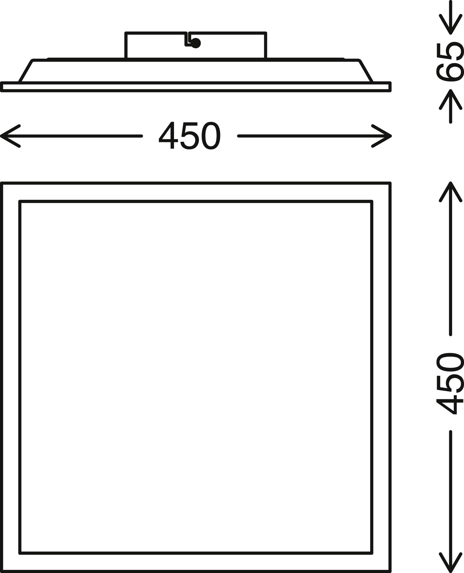 TELEFUNKEN Smart LED Panel, 45 cm, 24 W, Weiß