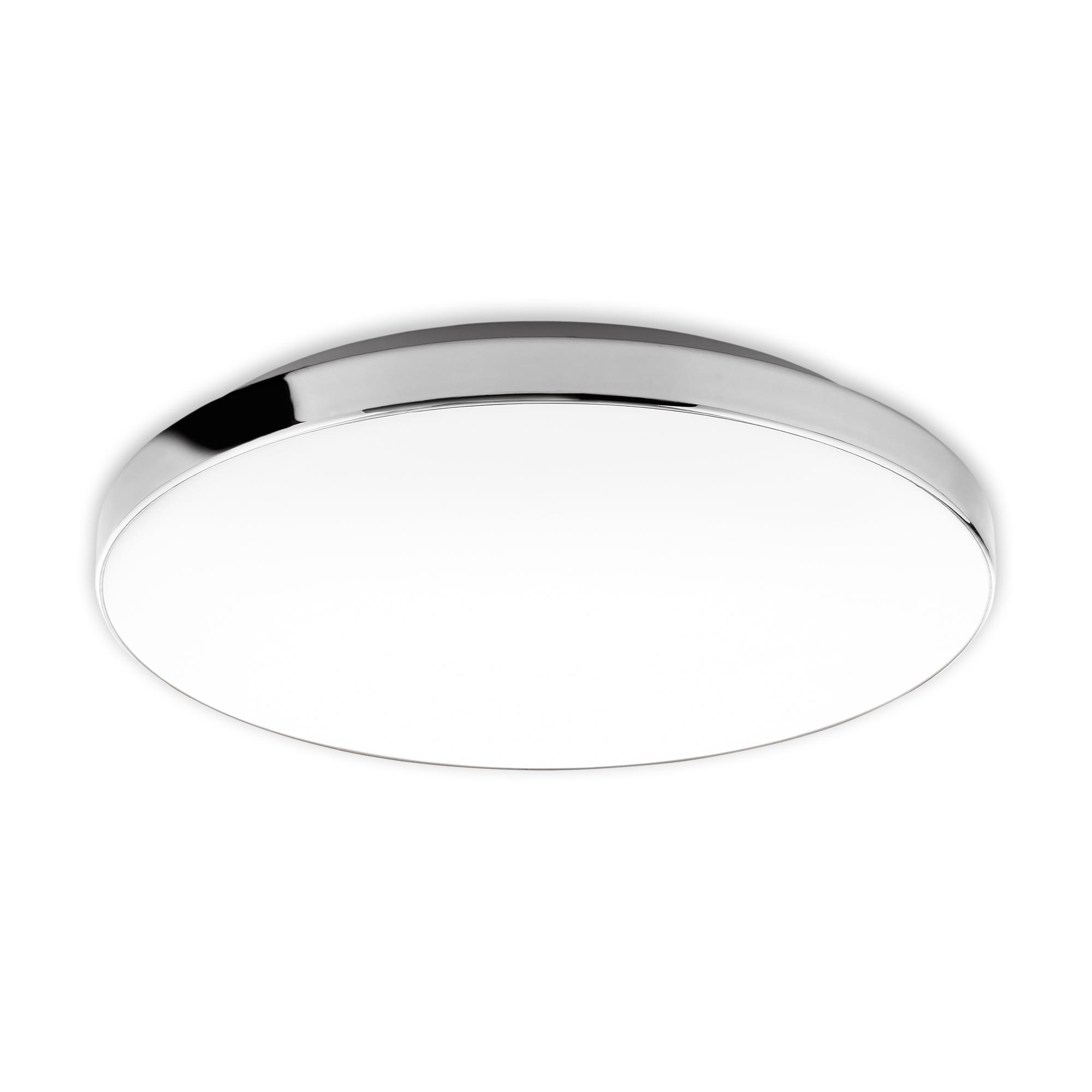 LED Deckenleuchte Weiß-Chrom