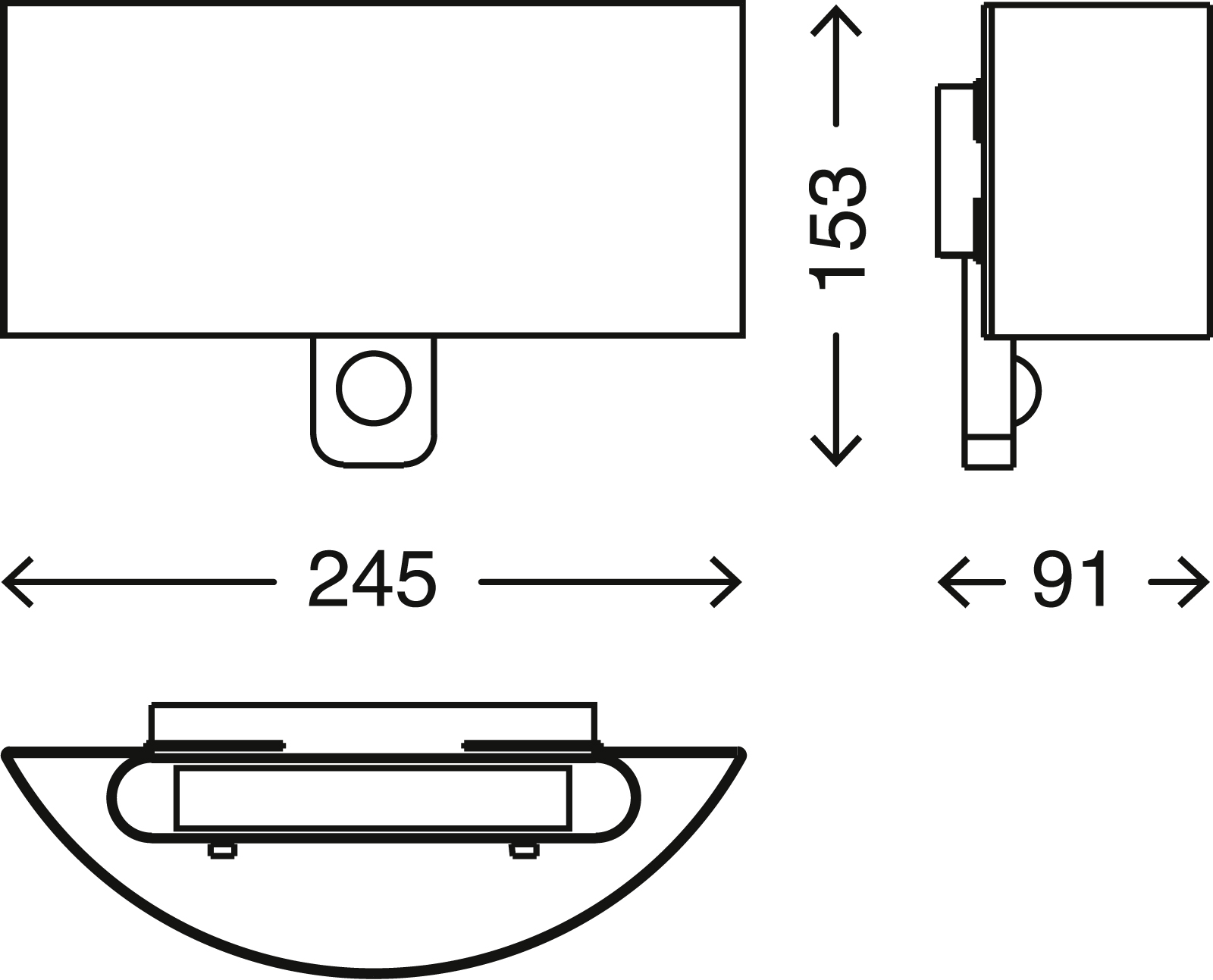 TELEFUNKEN Sensor LED Aussenleuchte, 24,5 cm, 8,5 W, Silber