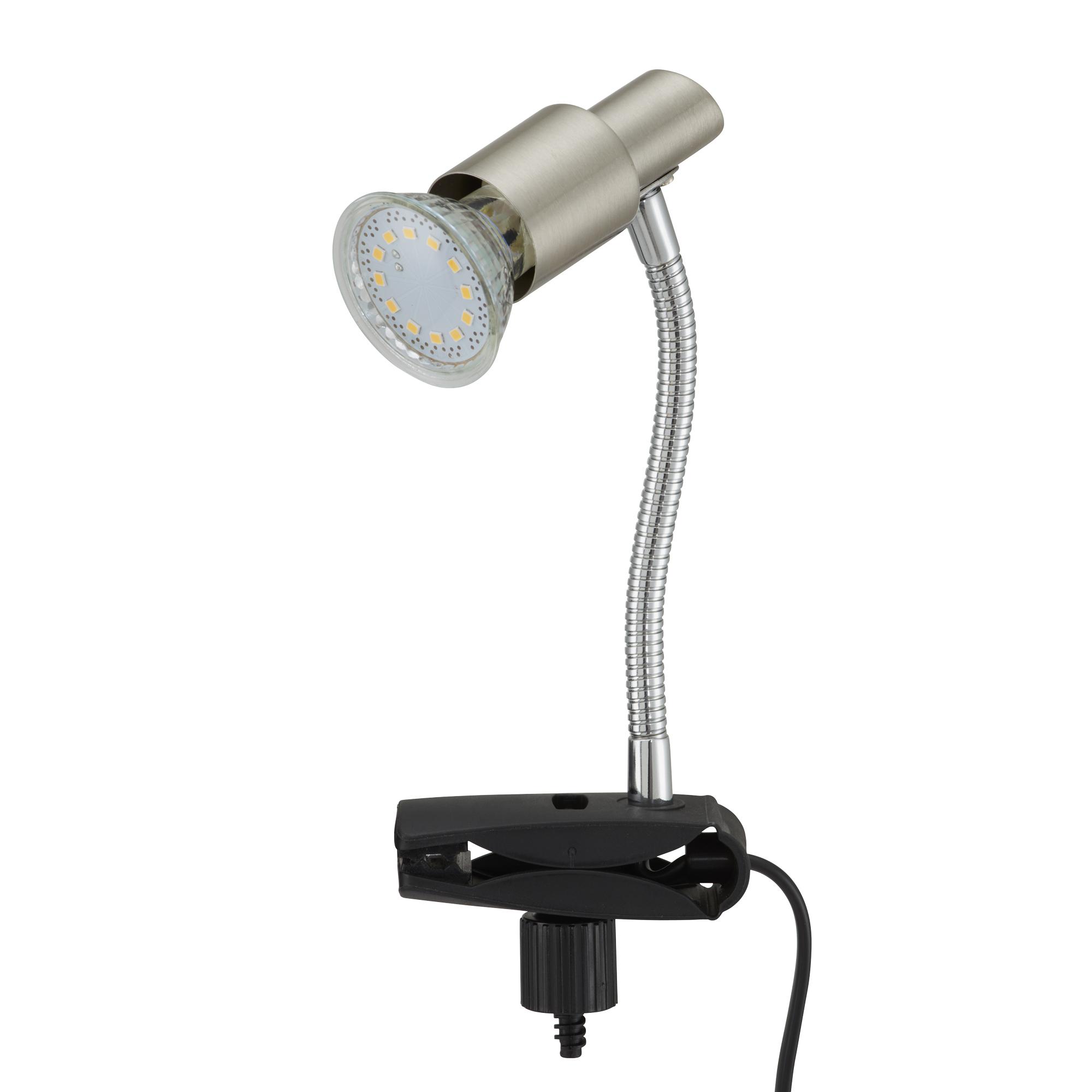 LED Klemmleuchte, 3,5 cm, 3 W, Matt-Nickel