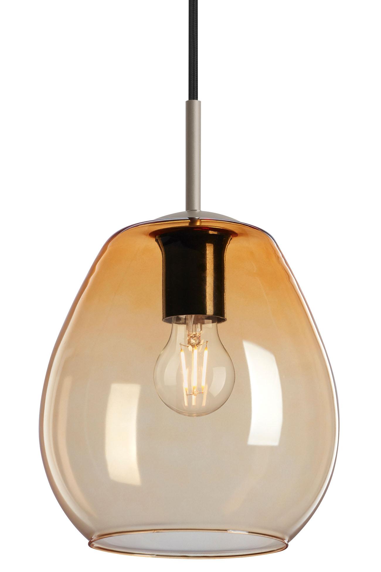 LED Pendelleuchte, Ø 22 cm, max. 40 W, Amber-Gold