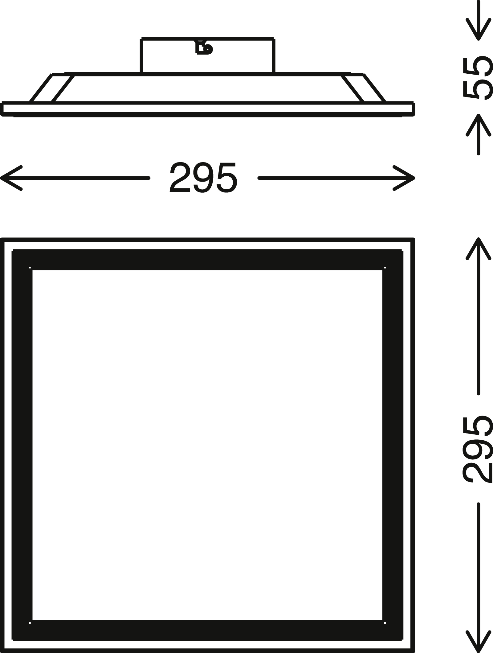 Sensor LED Panel Weiß