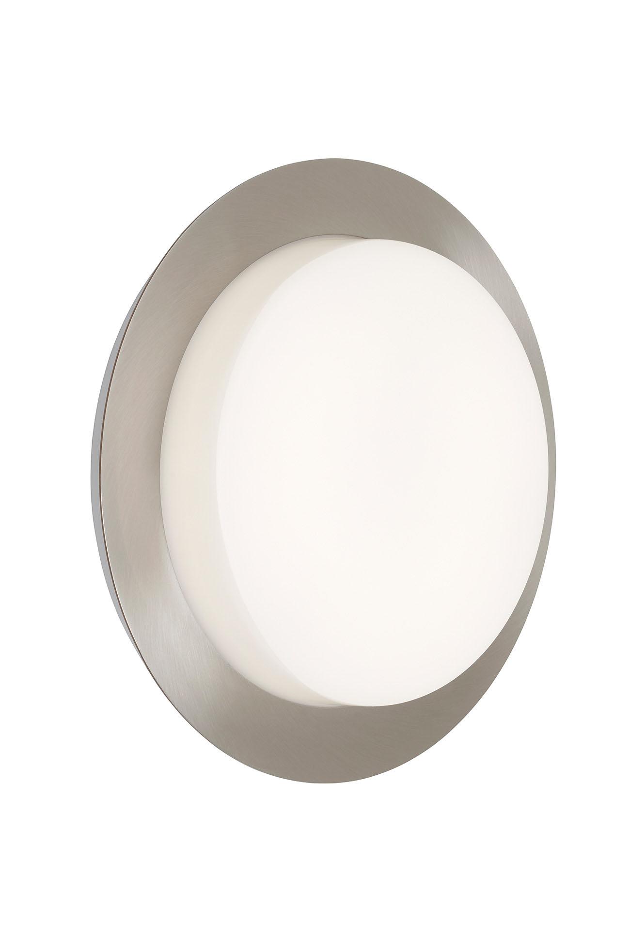TELEFUNKEN LED Aussenwandleuchte, Ø 30 cm, 15 W, Silber