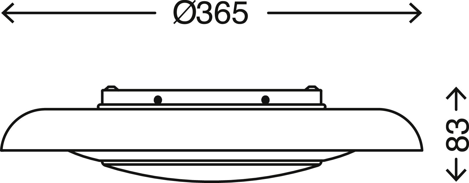 STERNENHIMMEL LED Deckenleuchte, Ø 36,5 cm, 12 W, Weiss