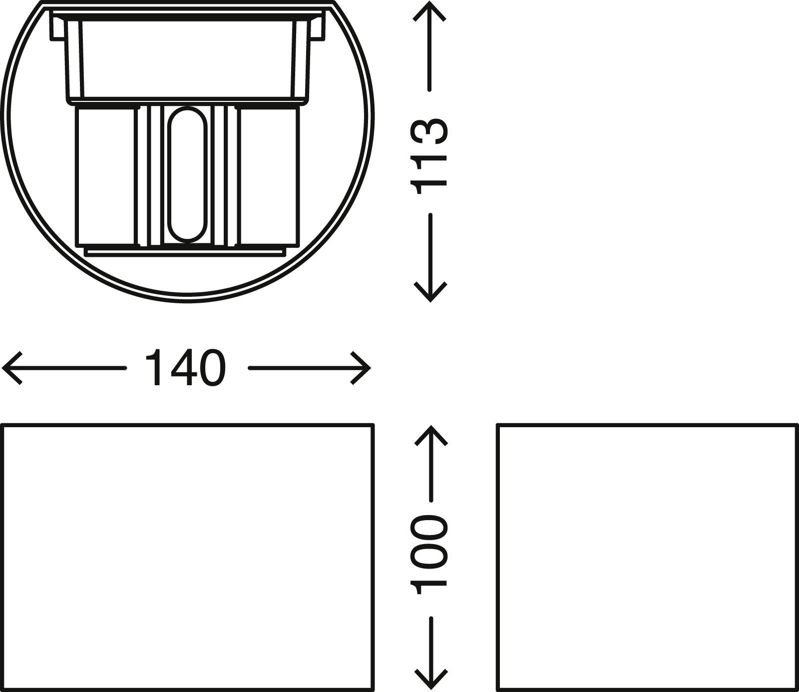 TELEFUNKEN LED Aussenleuchte, 14 cm, 7 W, Weiss