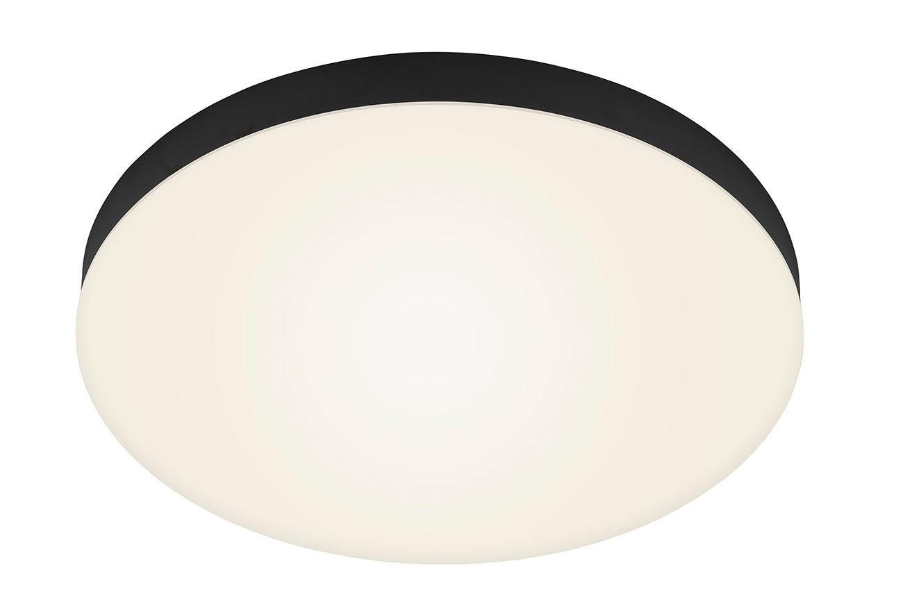 LED Deckenleuchte, Ø 38,7 cm, 24,5 W, Schwarz