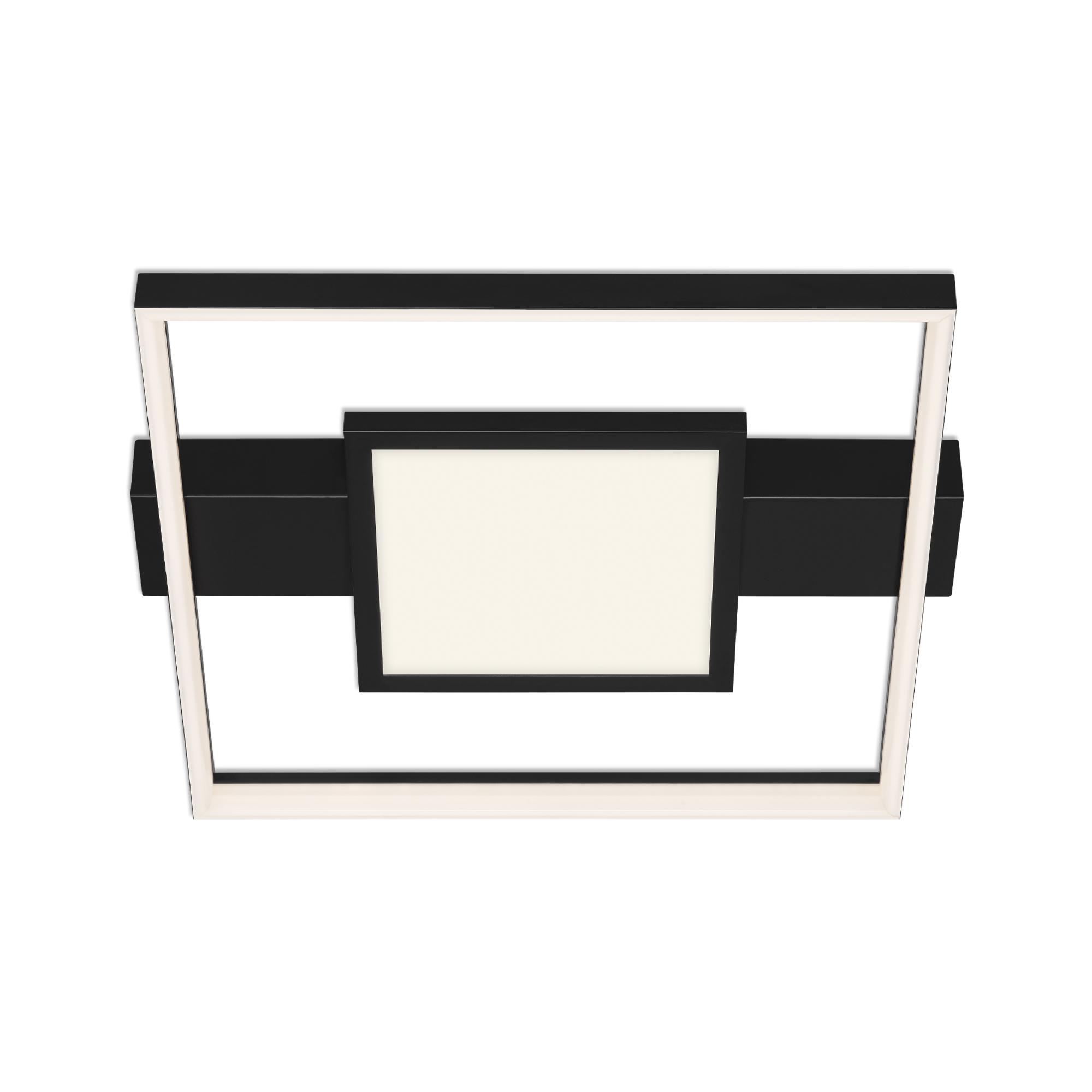 LED Wand- und Deckenleuchte, 43,5 cm, 38 W, Schwarz