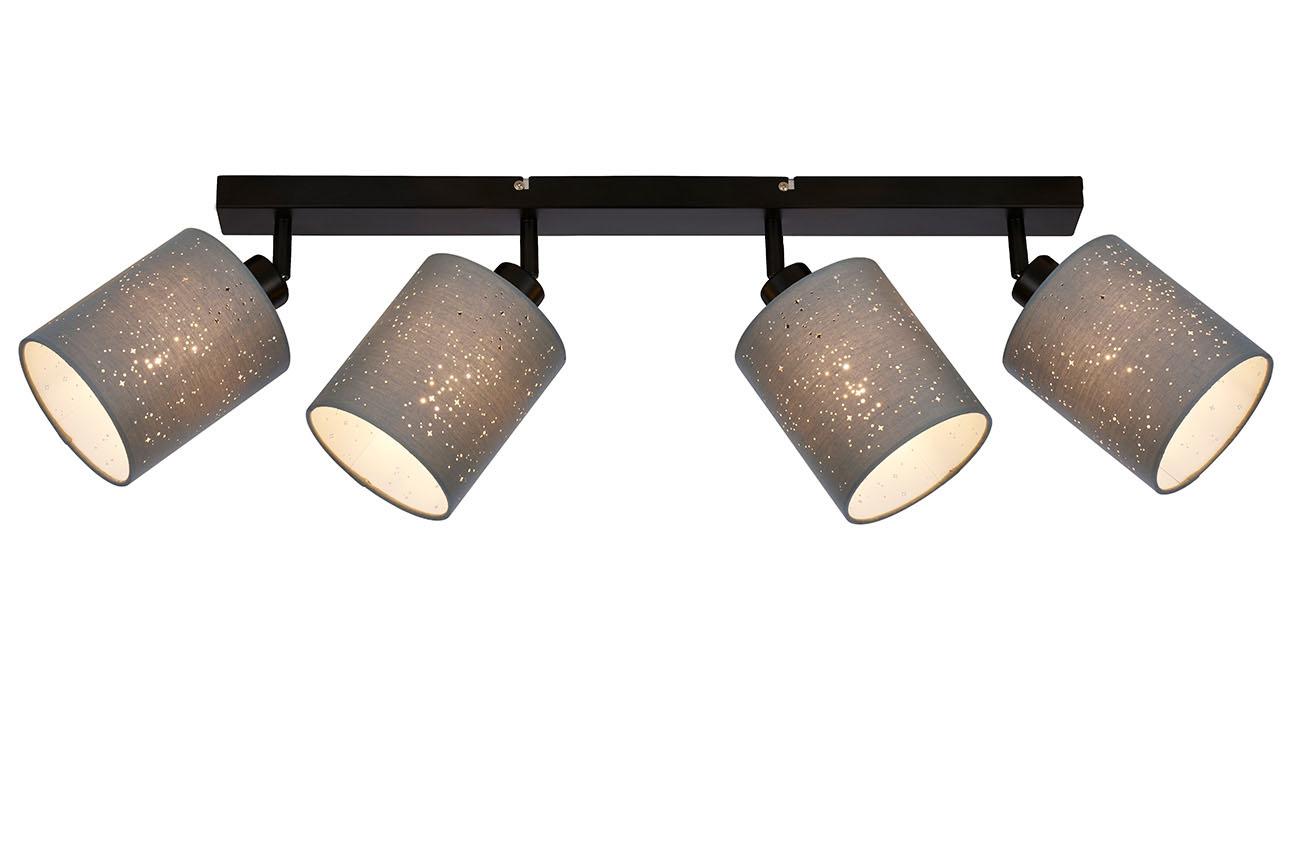LED Spot Deckenleuchte, 65 cm, max. 25 W, Grau-Schwarz