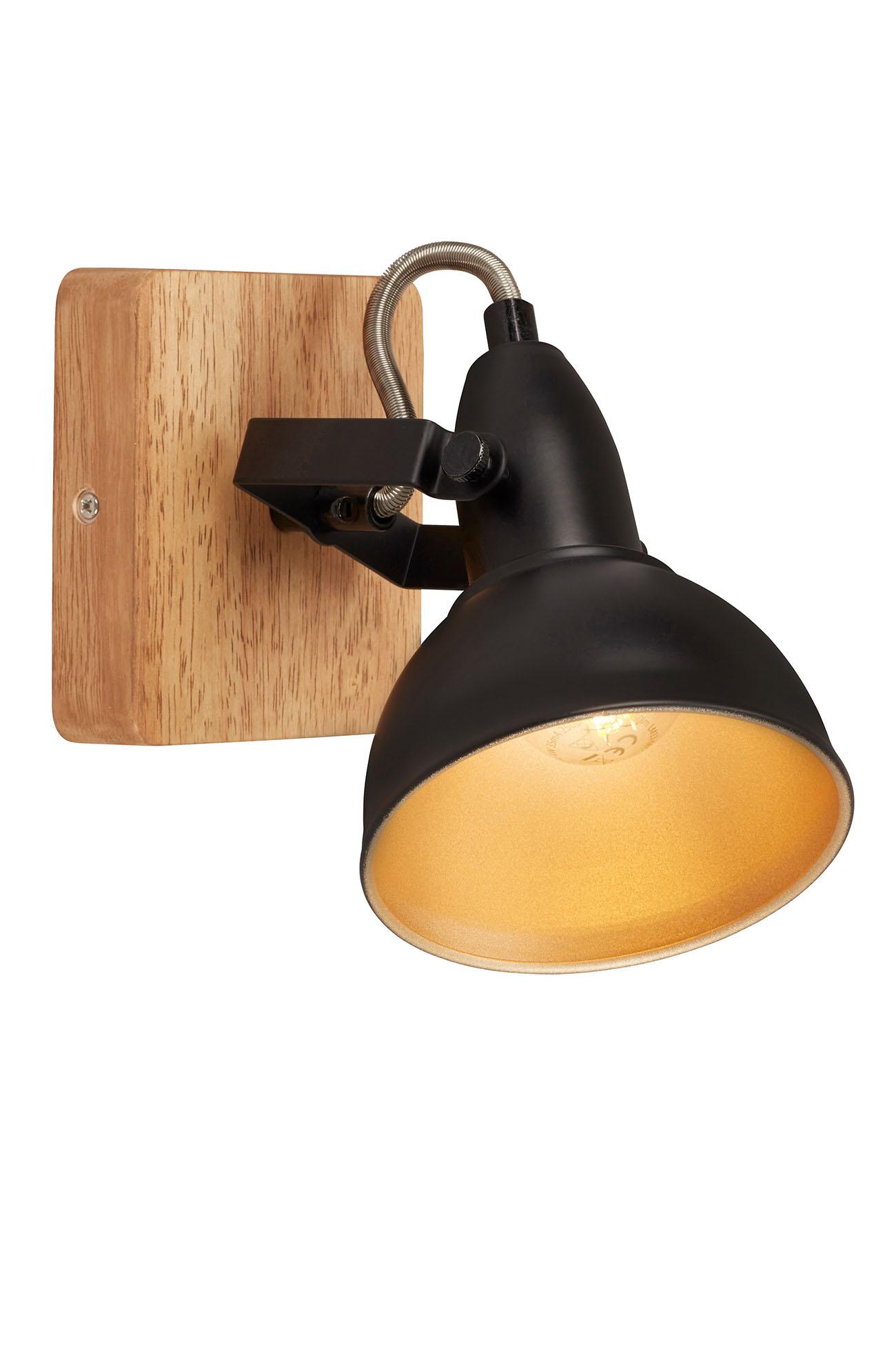 LED Spot Wand- und Deckenleuchte, 11 cm, max. 25 W, Schwarz