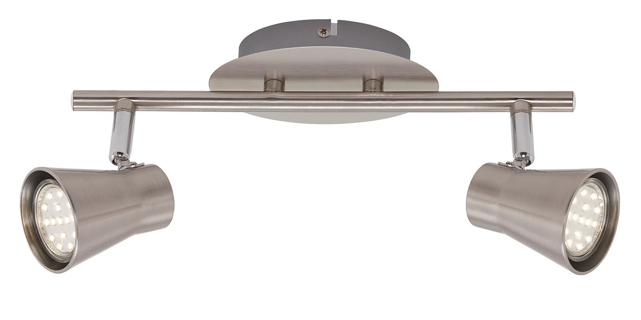 LED Spot Deckenleuchte, 30,5 cm, 6 W, Matt-Nickel