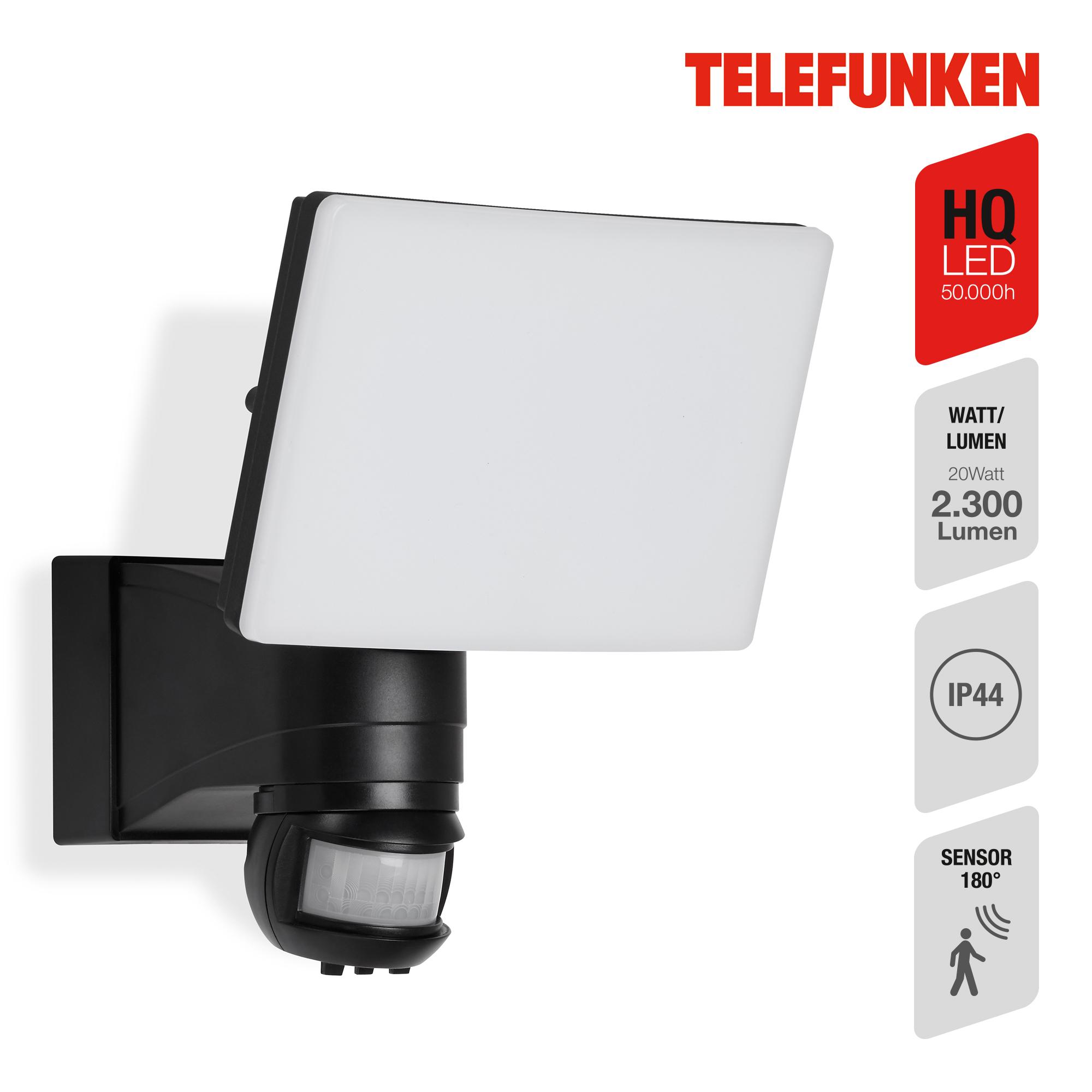 TELEFUNKEN LED Sensor Außenstrahler Schwarz