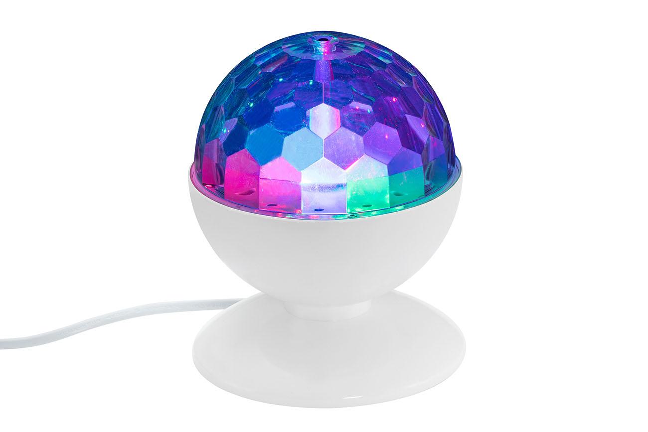 RGB LED Tischleuchte, Ø 12,5 cm, 3 W, Weiss