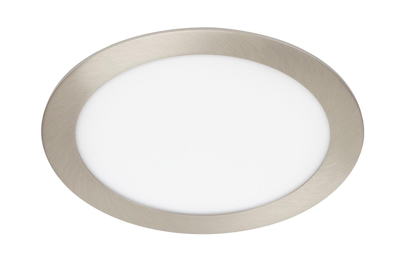 TELEFUNKEN Smart LED Einbauleuchte, Ø 22,5 cm, 18 W, Matt-Nickel