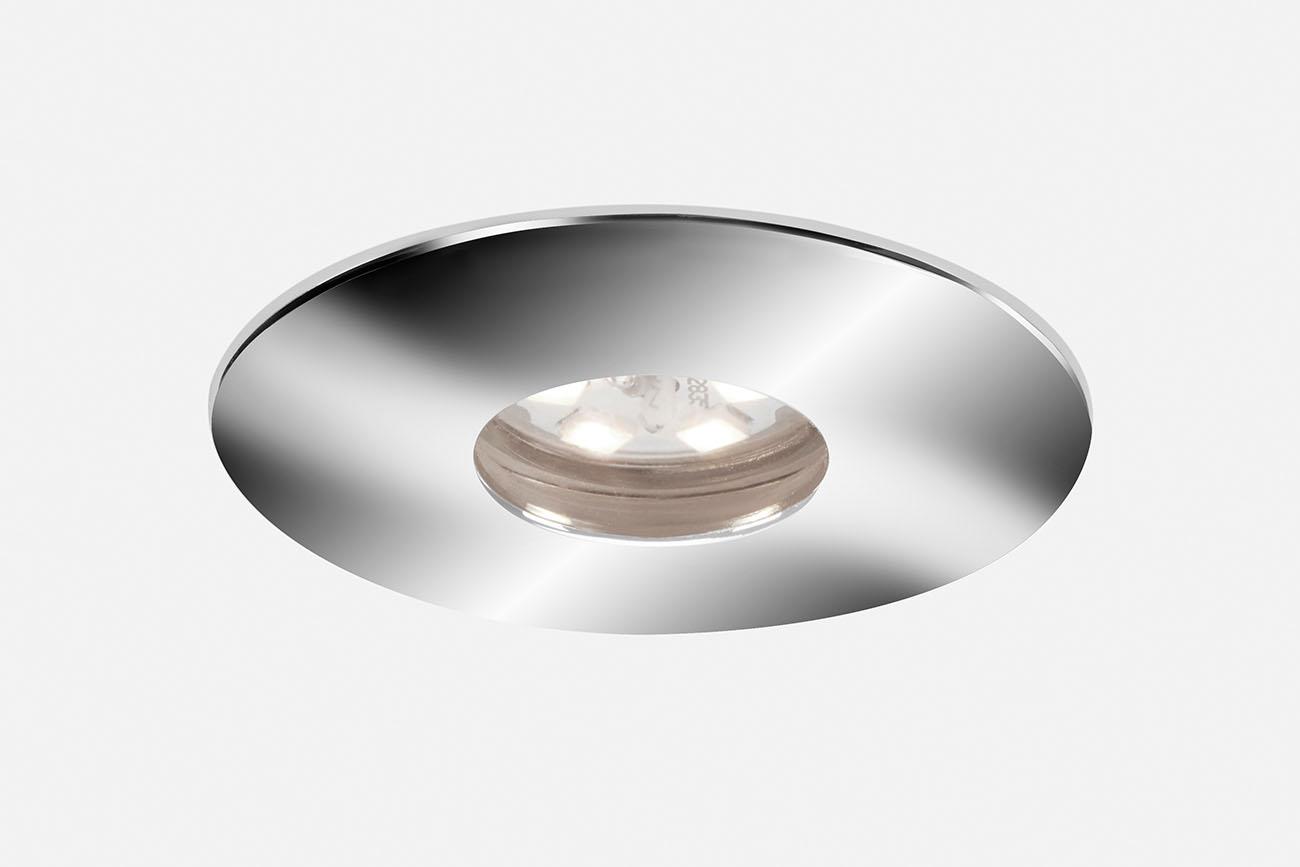 3er Set LED Einbauleuchte, Ø 4,5 , 2 W, Chrome