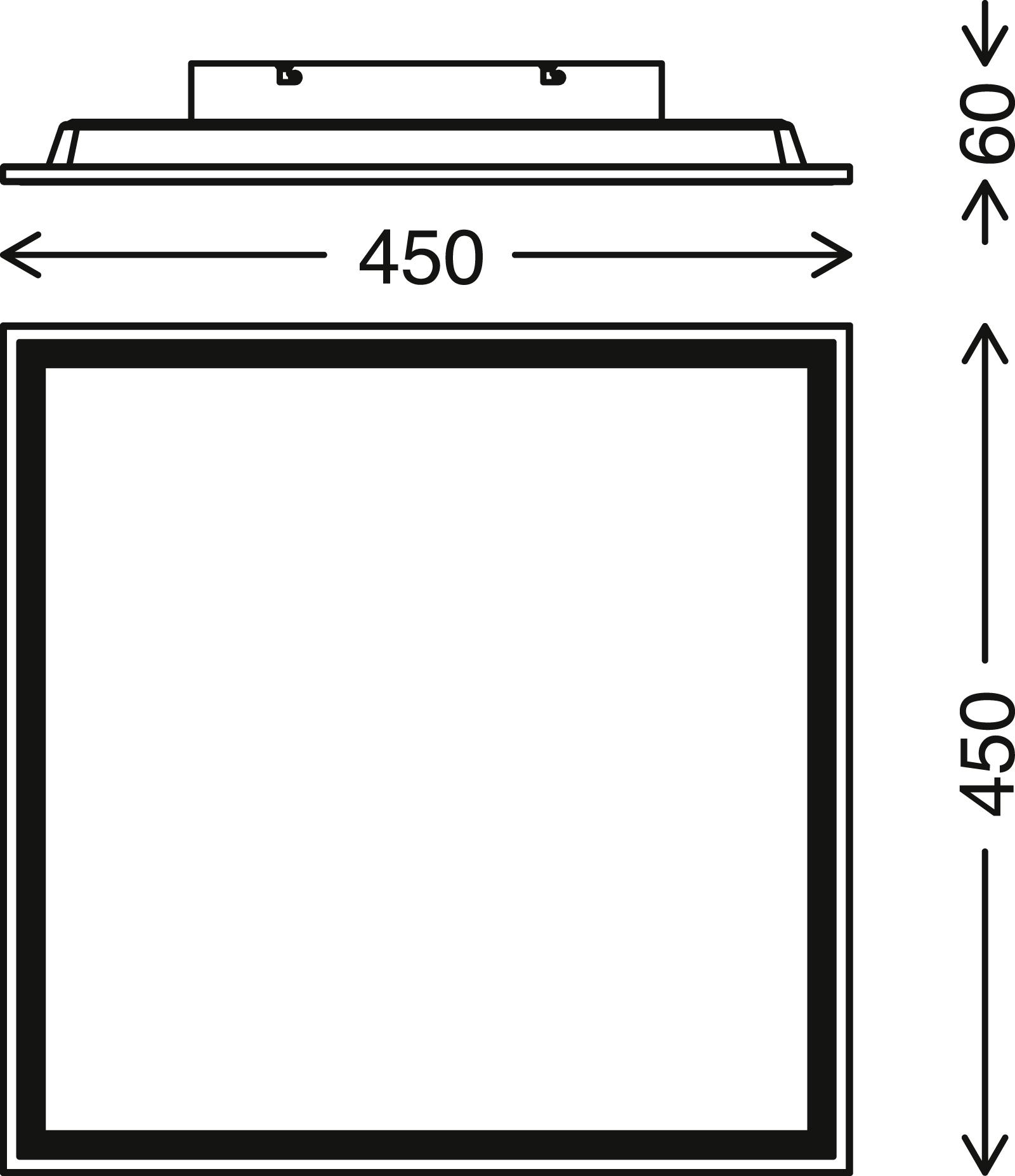 STERNENHIMMEL LED Panel, 45 cm, 2200 LUMEN, 22 WATT, Weiss