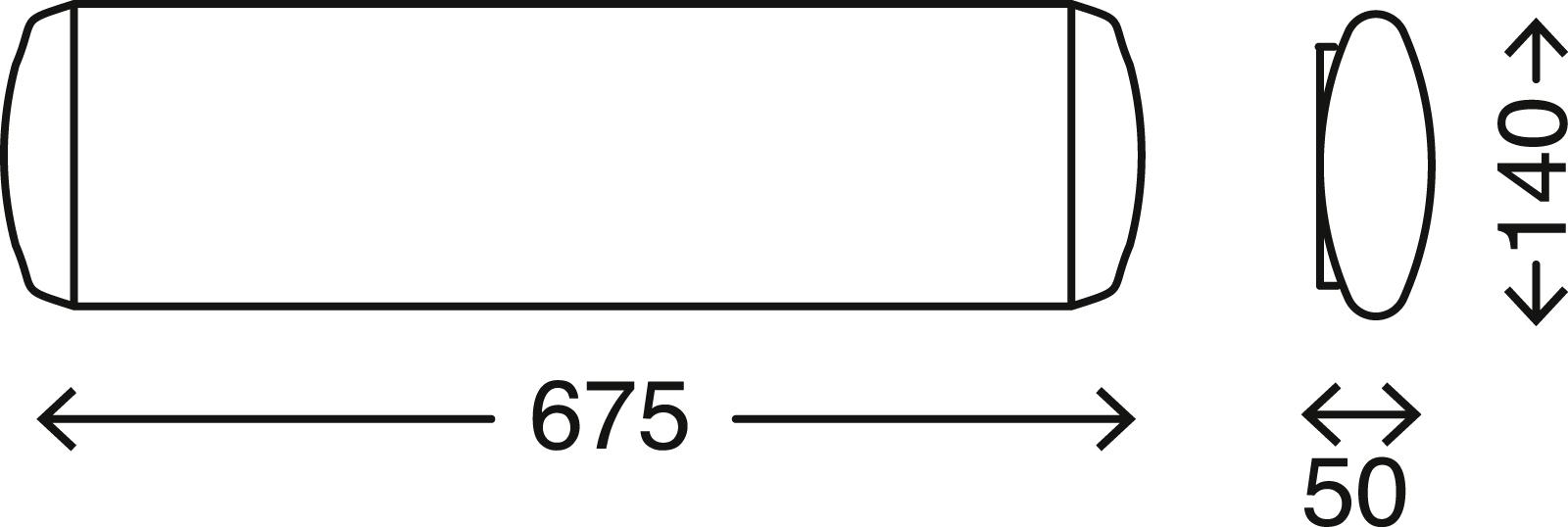 TELEFUNKEN LED Deckenleuchte, 67,5 cm, 10 W, Weiß