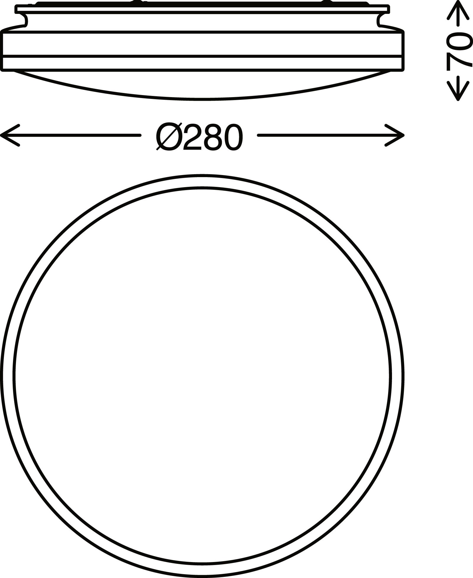 TELEFUNKEN Sensor LED Deckenleuchte, Ø 29 cm, 16 W, Schwarz