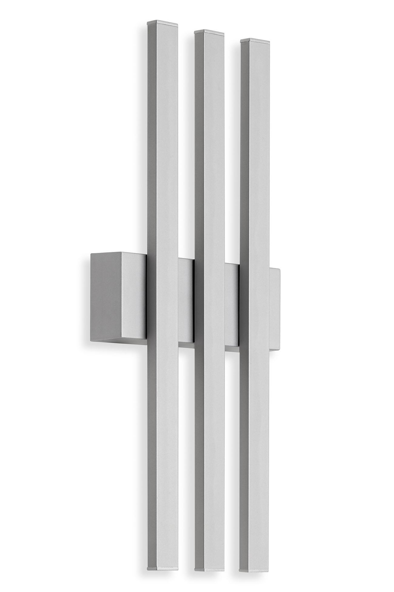 TELEFUNKEN LED Aussenwandleuchte, 37 cm, 12 W, Silber